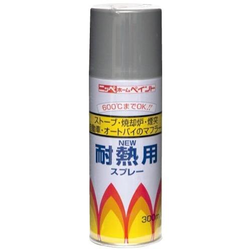 ニッペ ホームペイント 耐熱用スプレー 300ml 12本入 黒・310102【送料無料】