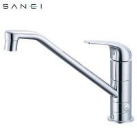 三栄水栓 SANEI シングルワンホール分岐混合栓 寒冷地 K87010BTJK-13C【送料無料】【S1】