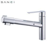 三栄水栓 SANEI シングル浄水器付ワンホールスプレー混合栓 K87580JV-13C【送料無料】