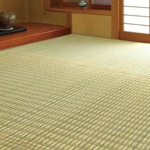 掛川織花ござ(い草敷物) 261×348cm グリーン・HRMKGNE6【送料無料】【S1】