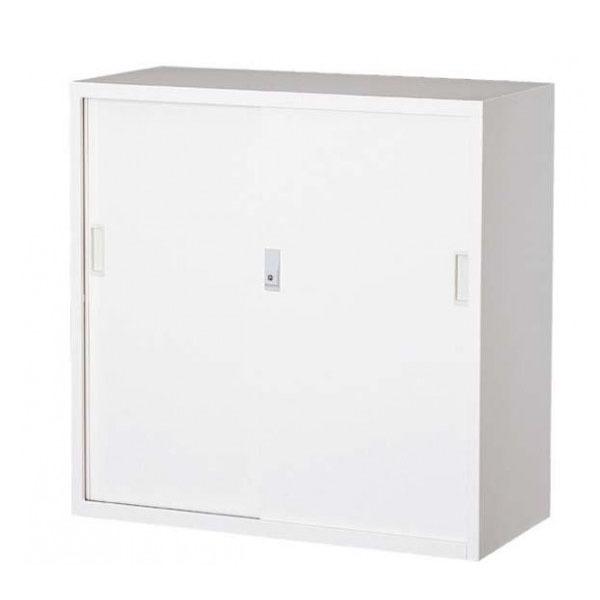 オフィス向け 一般書庫・ホワイト 3×3型引違書庫 3号鉄戸 COM-303D-W(代引き不可)【送料無料】