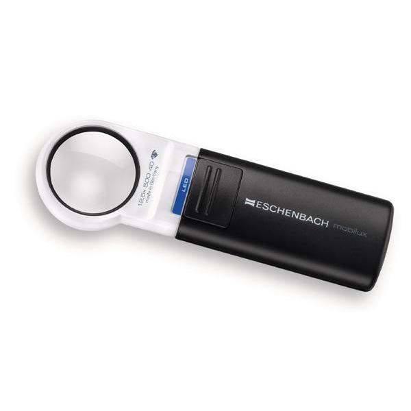 エッシェンバッハ mobiluxLED+mobase LEDワイドライトルーペ&専用スタンド 35mmΦ(12.5倍) 1511-12M【送料無料】