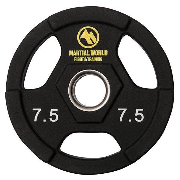 ポリウレタンオリンピックプレート 穴径50mm 7.5kg UP7500(代引き不可)
