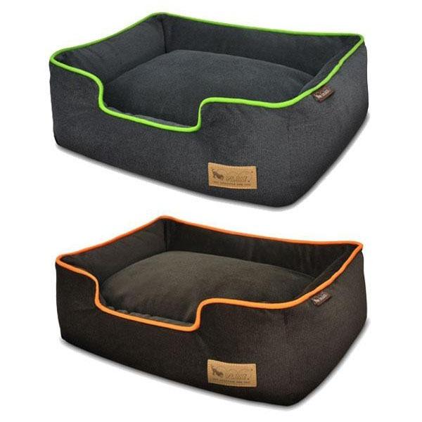ラグジュアリーベッド「P.L.A.Y」 ペット用ベッド ラウンジベッド(BOX型) Mサイズ アーバンプラッシュ ライム