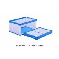 三甲 サンコー オリコンラック(扉付オリコン) P75B-D(長側扉なし) ホワイト/ブルー 555870(代引き不可)【送料無料】