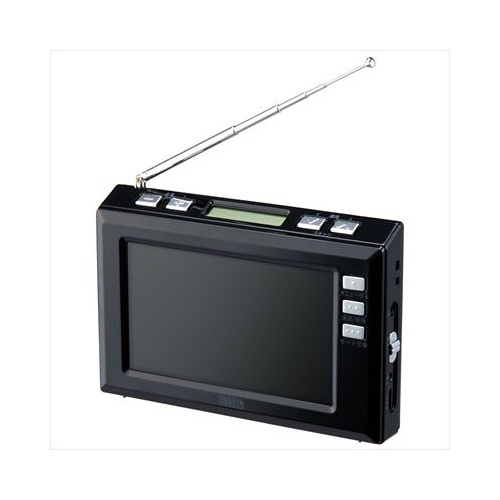 YAZAWA 4.3インチディスプレイ ワンセグラジオ(ブラック) TV03BK 家電 情報家電 ラジオ(代引不可)【送料無料】