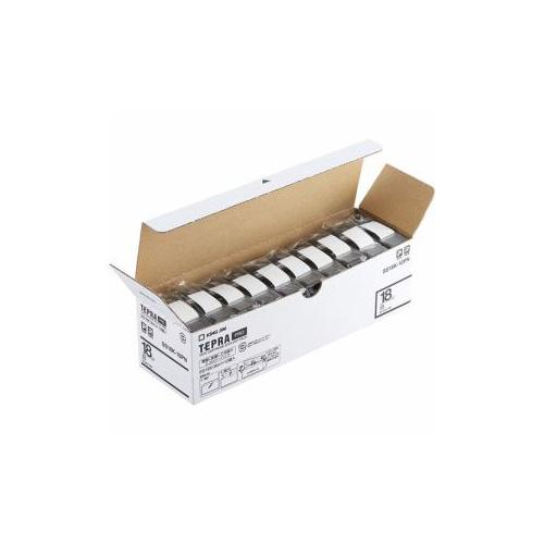キングジム SS18K-10PN テプラPROテープ エコパック 白 黒文字 18mm幅 8m 10個入 SS18K-10PN パソコン(代引不可)【送料無料】