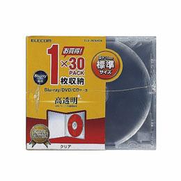 厚さ10.4mmの標準タイプ インデックスカードだけでなく背ラベルも収納できる標準タイプのBlu-ray DVD CDケース エレコム 標準 大規模セール 1枚収納 ラッピング無料 Blu-ray CCD-JSCN30CR PS