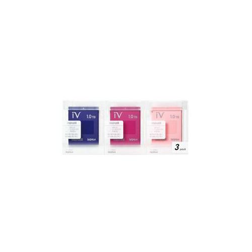 maxell カセットHDD iV(アイヴィ)カラーミックス 1TB×3個セット M-VDRS1T.E.MX3P パソコン ストレージ maxell【送料無料】