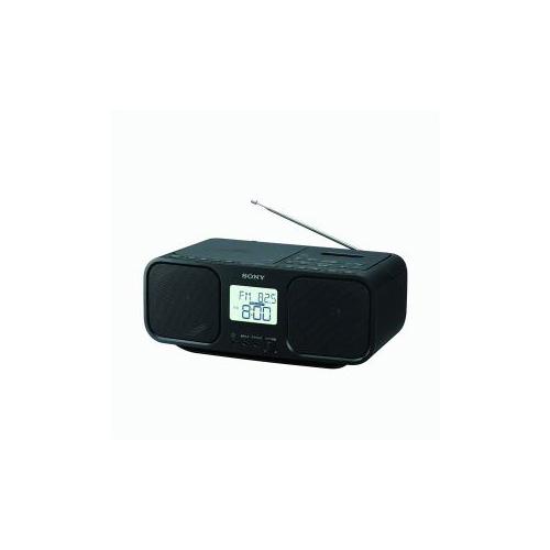ワイドFM対応 ブラック(代引不可)【送料無料】 CDラジオカセットレコーダー CFD-S401-BC ソニー