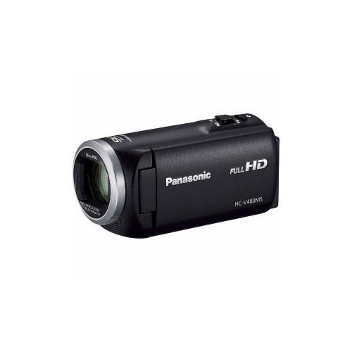 Panasonic デジタルハイビジョンビデオカメラ ブラック HC-V480MS-K(代引不可)【送料無料】