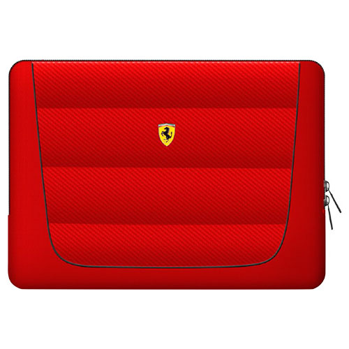 Ferrari 公式ライセンス品 13インチノートパソコン用バッグ レッド FECS13RE(代引不可)【送料無料】