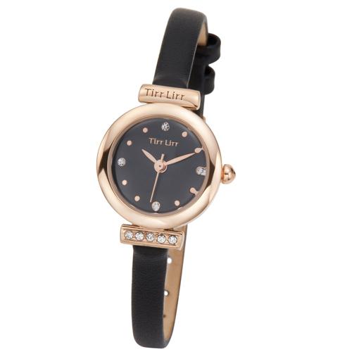 TirrLirr 腕時計 ジュエリー ウォッチ ブランド レディース 革ベルト twc-001BK(代引不可)