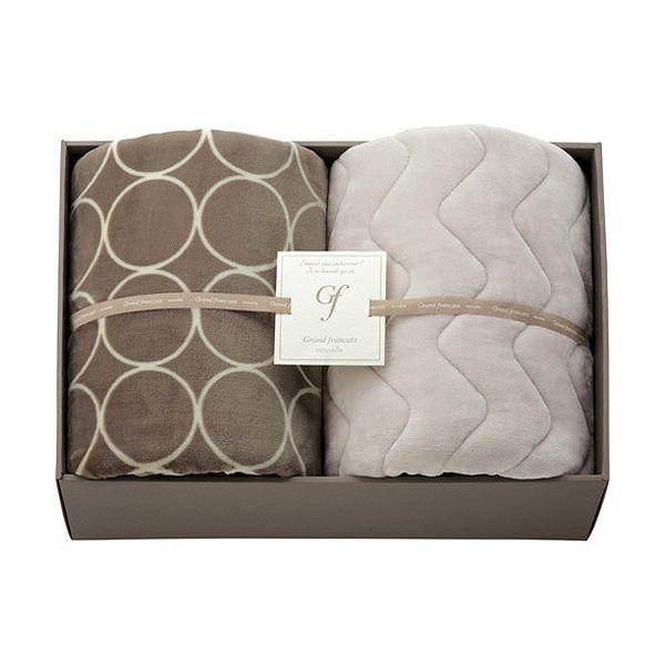 ハイソフトタッチマイヤー毛布&吸湿発熱綿入り敷パット L3196539(代引不可)