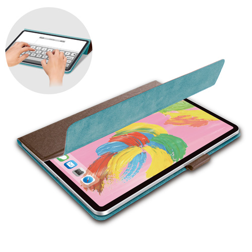 エレコム iPad Pro 11インチ 2018年モデル フラップカバー イタリア製高級ソフトレザー 2アングル ブラウン TB-A18MWDTBR(代引不可)【送料無料】