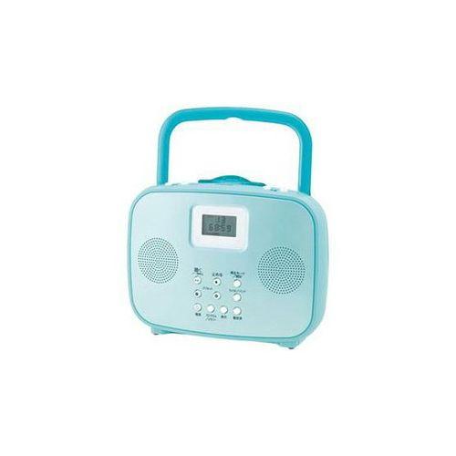 コイズミ ワイドFM対応シャワーCDラジオ(ブルー) SAD-4309-A お風呂 CD ラジオ 防水 防災 非常用(代引不可)