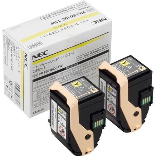 NEC エヌイーシー トナーカートリッジ 2本セット (イエロー) PR-L9010C-11W コピー機 印刷 替え カートリッジ ストック トナー(代引不可)【送料無料】