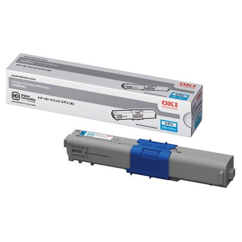 OKI 沖データ OKIデータ トナーカートリッジ シアン (大) TNR-C4HC2 コピー機 印刷 替え カートリッジ ストック トナー(代引不可)