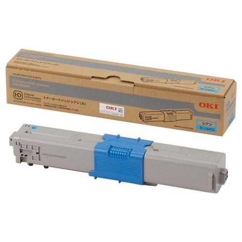 OKI 沖データ OKIデータ トナーカートリッジ シアン (大) TC-C4AC2 コピー機 印刷 替え カートリッジ ストック トナー(代引不可)
