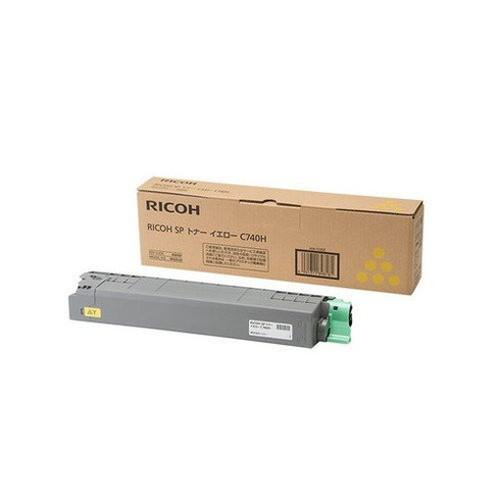 RICOH リコー IPSiO イプシオ SP トナー イエロー C740H 600587 コピー機 印刷 替え カートリッジ ストック トナー(代引不可)