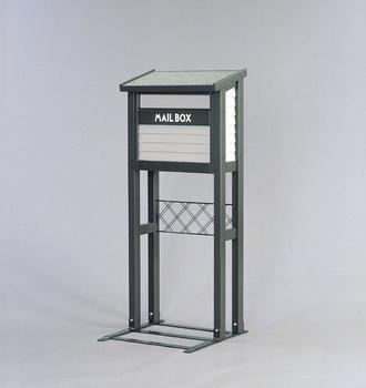 アイリスオーヤマ ガーデンメールボックススタンド付 木製組立品 グレー MGS-118(代引き不可)【送料無料】