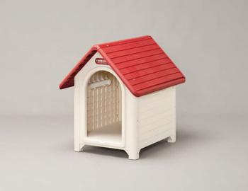 アイリスオーヤマ ボブハウスL 犬舎 レッド/オフホワイトL(代引き不可)【送料無料】