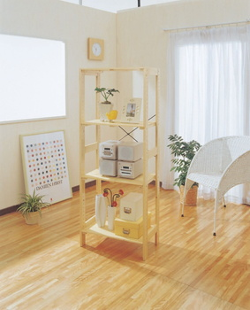 アイリスオーヤマ ウッディラック 木製ラック クリア WOR-5315(代引き不可)【送料無料】