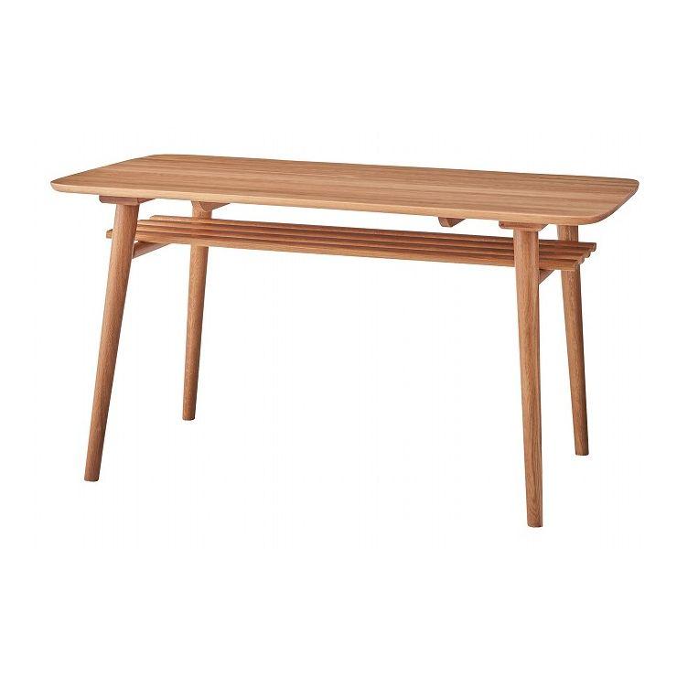 送料無料 ダイニングテーブル 幅135×奥行80×高さ72 海外 天然木 代引不可 初回限定 オーク ウレタン塗装