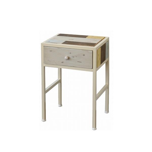 サイドテーブル 天然木 北欧 木製 テーブル ナイトテーブル ベッドテーブル ソファーテーブル アイアン おしゃれ アンティーク(代引不可)【送料無料】