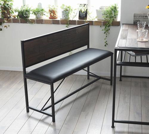 grant GRANT ダイニングベンチ 天然木 北欧 木製 椅子 イス チェアー シンプル スタッキング アイアン(代引不可)【送料無料】