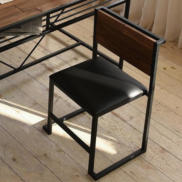 ダイニングチェア 天然木 北欧 木製 椅子 イス チェアー シンプル スタッキング アイアン おしゃれ オイル アンティーク(代引不可)【送料無料】