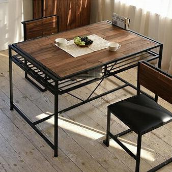 ダイニングテーブル 天然木 北欧 木製 テーブル 作業台 ダイニングセット 北欧 木製 アイアン おしゃれ アンティーク(代引不可)【送料無料】