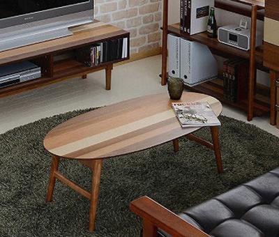 オーバルテーブル 折りたたみ テーブル ウォールナット センターテーブル ローテーブル リビングテーブル(代引不可)【送料無料】【S1】