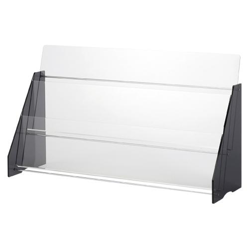 クラウン アクリルパンプレット台 透明 1 台 CR-PF32 文房具 オフィス 用品