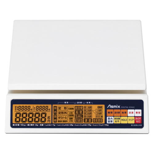 アスカ 料金表示レタースケール 10kg DS011 1台