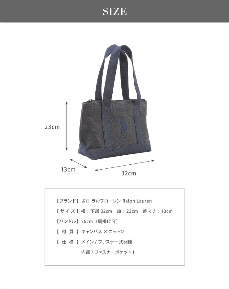 bad1f6d09ad3 RALPH LAUREN Ralph Lauren Thoth M bag tote bag shoulder bag schoolbag  attending school bag back Ralph polo