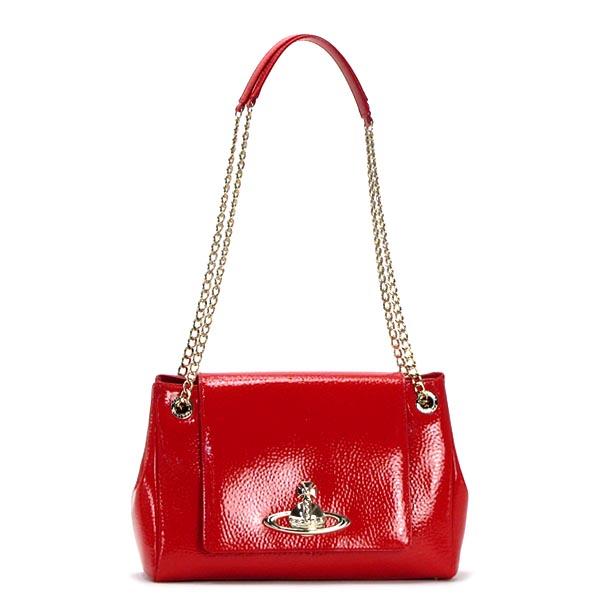 ヴィヴィアン ウエストウッド VIVIENNE WESTWOOD ショルダーバッグ 13405 BAG WITH FLAP RED