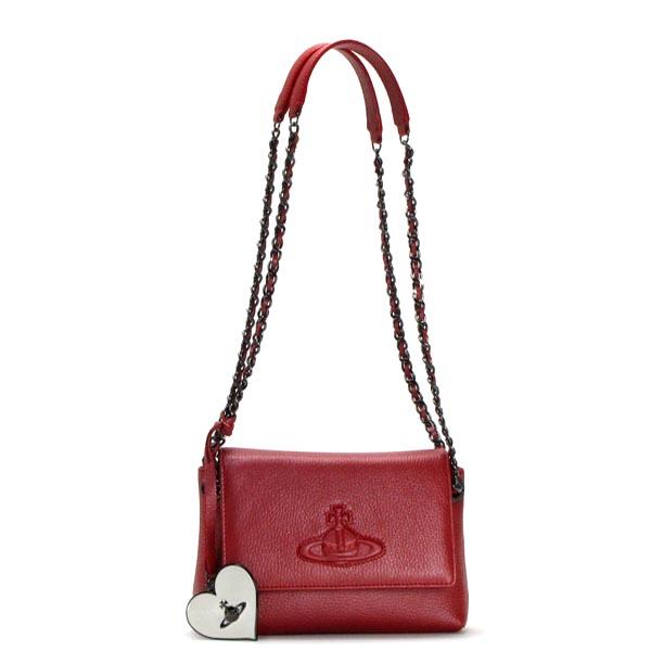ヴィヴィアン ウエストウッド VIVIENNE WESTWOOD ショルダーバッグ 13419 FLAP BAG WITH CHAIN RED