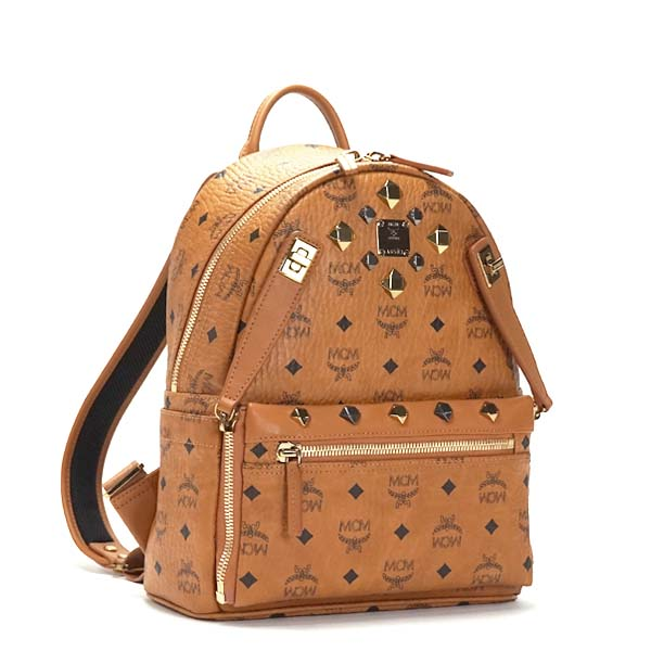 MCM エムシーエム バックパック MMK6SVE80 BACKPACK SML COGNAC CAMEL【送料無料】