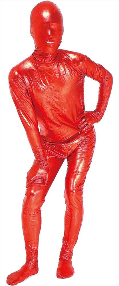 透明人間 コーティング 赤 M コスプレ 衣装 ハロウィン レディース 全身タイツ(代引不可)