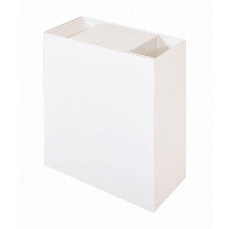 【日本製】 SLANT リビングダストボックス ワイド ゴミ箱 ごみ箱 シンプル オシャレ キャスター付き(代引不可)【送料無料】【S1】