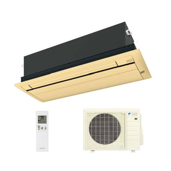 ダイキン ハウジングエアコン 天井カセット形シングルフロー 14畳程度 S40RCV ブラウンパネル BC40JF-T 【業務用】(代引不可)【送料無料】