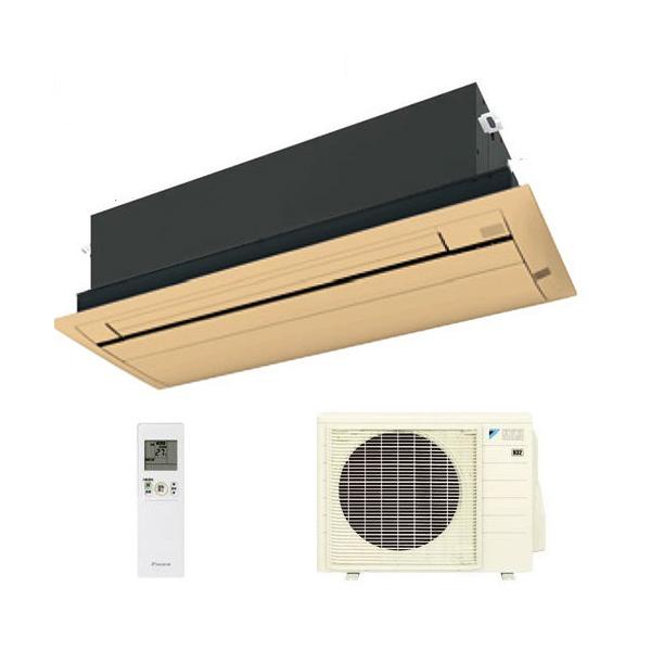 ダイキン ハウジングエアコン 天井カセット形シングルフロー 20畳程度 S63RCV 木目パネル BC40JF-M 【業務用】(代引不可)【送料無料】