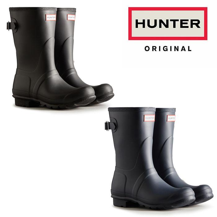 HUNTER ハンター レインブーツ オリジナル アジャスタブル ショート ORIG BACK ADJ SHORT WFS1013RMA レディース ブーツ 長靴【送料無料】