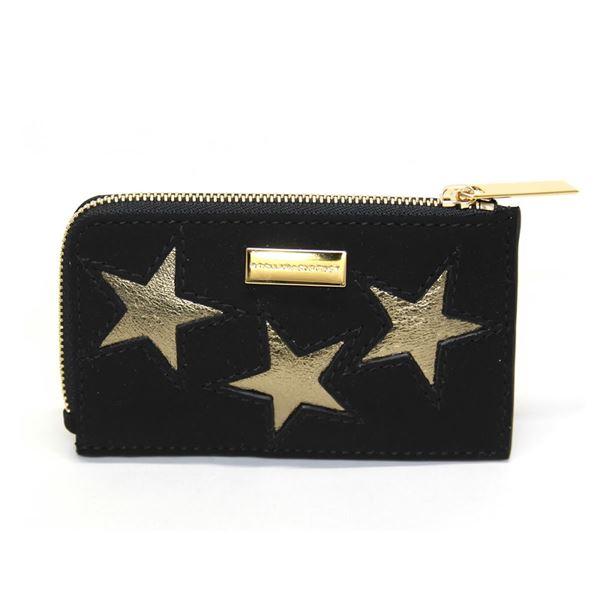 STELLA McCARTNEY (ステラマッカートニー) 489033 W8140 1000 スター 星型パッチワーク L字ジップ カードケース 名刺入れ Card Holder Gold Stars【代引不可】