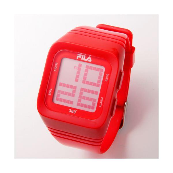 FILA(フィラ) 360゜SENSOR デジタルウォッチ FCD001-102 レッド【送料無料】:リコメン堂生活館