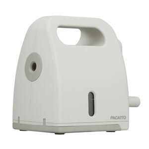 削りくずを直接ゴミ箱にパカッと捨てられる机を汚さない鉛筆削り器。 (業務用5セット) 手動式シャープナー PACATTO(パカット) ベージュ NEK-H101-BE