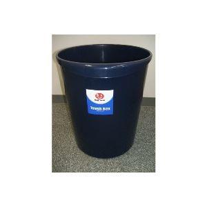 (まとめ買い)ジョインテックス 持ち手付きゴミ箱丸型18.3Lブルー N153J-B5 5個 【×5セット】