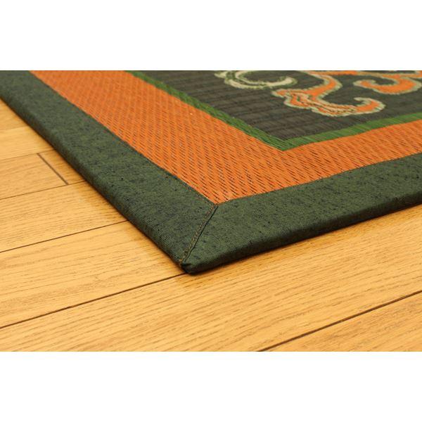 純国産 袋五重織い草マット 『華紋草』 約88×150cm(裏:不織布)