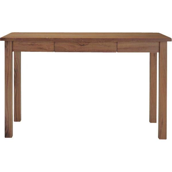 【ぬくもり家具】Tomteトムテ 引き出し付き 木製デスク(組立) ウォルナット TAC-311WAL [幅120×高さ72cm]